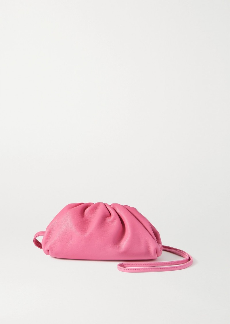 The Pouch Mini Gathered Leather Clutch
