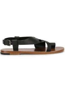 Bottega Veneta toe strap buckle detail sandal