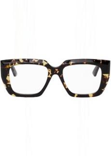 Bottega Veneta Tortoiseshell Angular Glasses