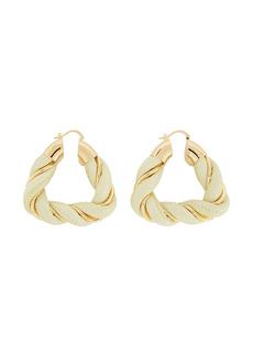 Bottega Veneta twisted triangle hoop earrings