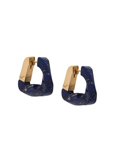 Bottega Veneta twisted triangle hoop earrings