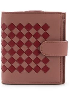 Bottega Veneta two tone intrecciato snap wallet