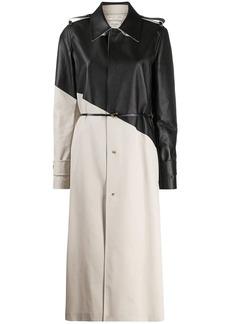 Bottega Veneta two-tone trench coat