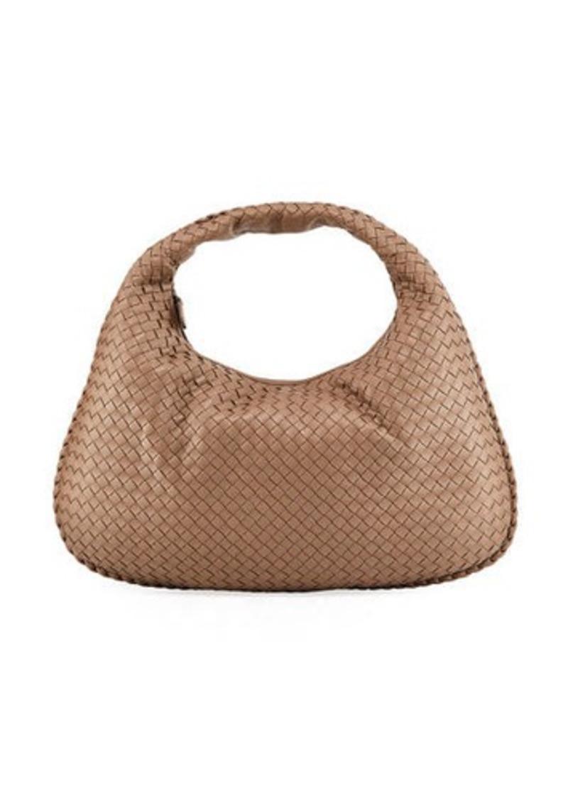 Bottega Veneta Veneta Intrecciato Large Hobo Bag  Gray