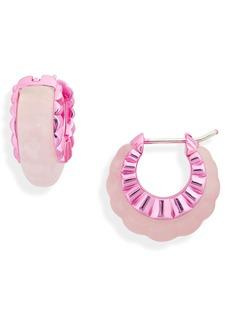 Women's Bottega Veneta Floral Hoop Earrings