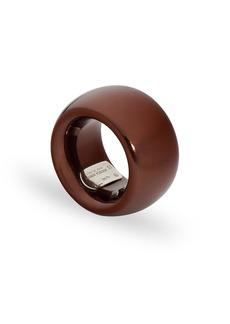 Women's Bottega Veneta Thick Sterling Silver Ring