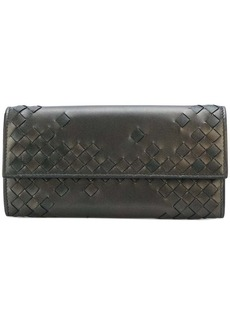 Bottega Veneta woven fold-over wallet