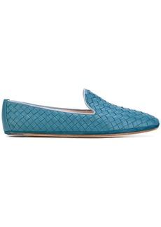 Bottega Veneta woven texture loafers