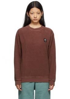 Brain Dead Brown Reverse Fleece Sweatshirt