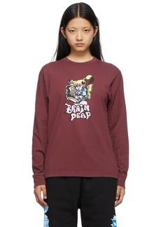 Brain Dead Burgundy Bubblegum Shorty Long Sleeve T-Shirt