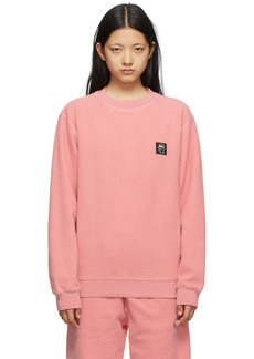 Brain Dead Pink Reverse Fleece Sweatshirt