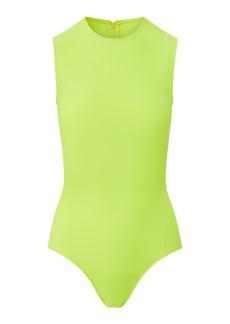 Brandon Maxwell - Women's Jersey-Knit Henley Bodysuit - Pink/orange - Moda Operandi
