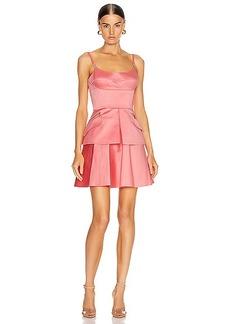 Brandon Maxwell Bustier Peplum Mini Dress