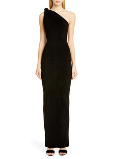 Brandon Maxwell Giselle Knot Top Column Gown