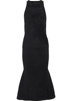 Brandon Maxwell Woman Fluted Chenille Midi Dress Black
