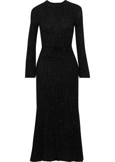Brandon Maxwell Woman Fluted Tinsel Midi Dress Black
