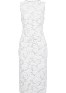 Brandon Maxwell Woman Metallic Jacquard Midi Dress Ivory