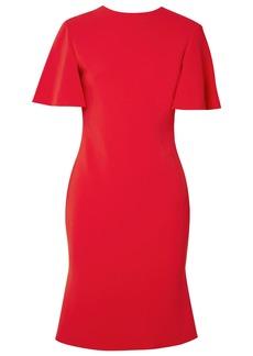 Brandon Maxwell Woman Open-back Stretch-crepe Mini Dress Tomato Red
