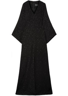 Brandon Maxwell Woman Satin-jacquard Gown Black