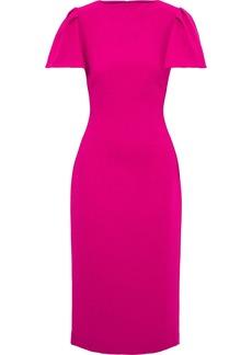 Brandon Maxwell Woman Wool-crepe Midi Dress Magenta