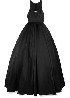 Brandon Maxwell Cutout Duchesse Silk-satin Gown