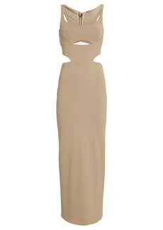 Brandon Maxwell Jersey Cut-Out Midi Dress
