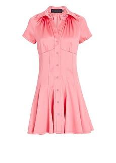 Brandon Maxwell Poplin Mini Shirt Dress