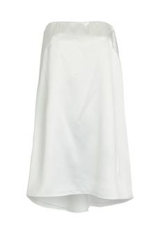 Brandon Maxwell Strapless Babydoll Satin Dress