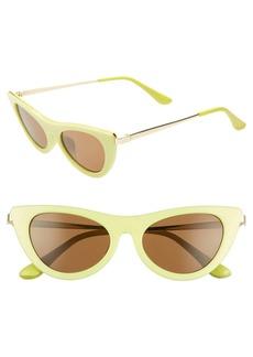 Brass Plum 50mm Cat Eye Sunglasses