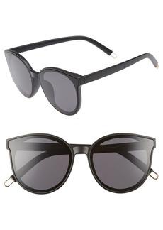 Brass Plum 59mm Metal Tip Round Sunglasses