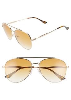 Brass Plum 60mm Aviator Sunglasses