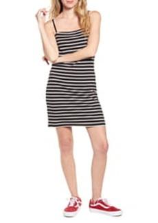 Brass Plum '90s Stripe Sleeveless Minidress