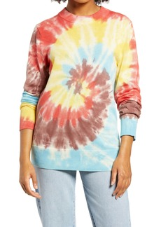 Brass Plum Be Proud by BP. Gender Inclusive Tie Dye Crewneck Sweater