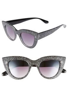 Brass Plum BP. 45mm Glitter Cat Eye Sunglasses