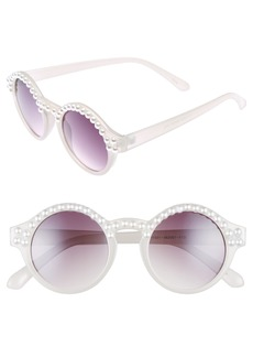 BP. 45mm Imitation Pearl Round Sunglasses