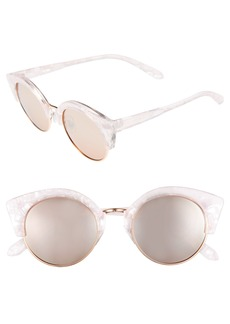 BP. 46mm Round Cat Eye Sunglasses
