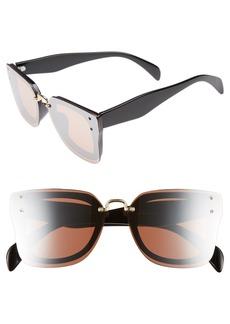 Brass Plum BP. 48mm Cat Eye Shield Sunglasses