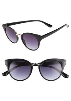 BP. 48mm Round Cat Eye Sunglasses