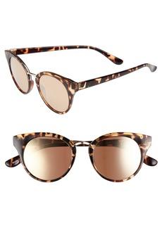 Brass Plum BP. 48mm Round Cat Eye Sunglasses