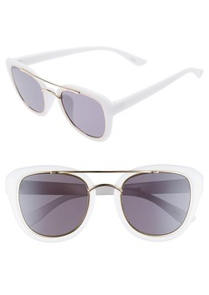 Brass Plum BP. 50mm Brow Bar Cat Eye Sunglasses