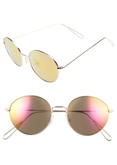 BP. 50mm Metal Round Sunglasses