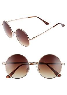 BP. 50mm Metal Round Sunglasses