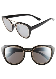 BP. 50mm Metal Trim Sunglasses