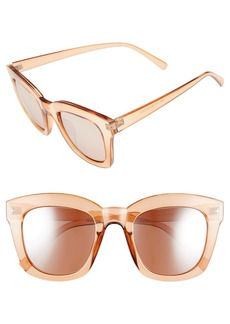 BP. 50mm Mirror Square Sunglasses