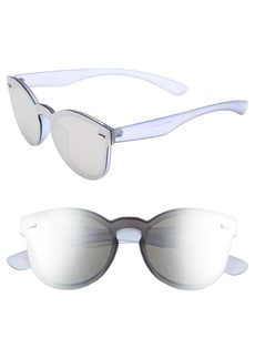 BP. 50mm Mirrored Lens Rimless Sunglasses