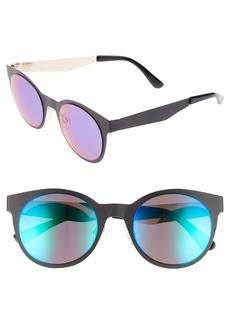 BP. 50mm Mirrored Round Sunglasses