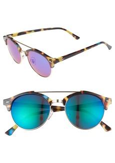 Brass Plum BP. 50mm Mirrored Round Sunglasses