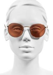 Brass Plum BP. 50mm Round Aviator Sunglasses