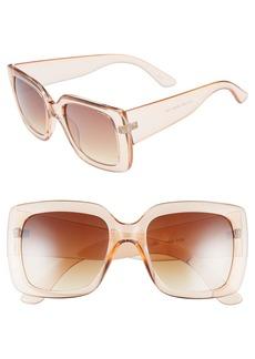 BP. 50mm Translucent Square Sunglasses