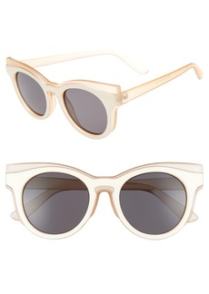 BP. 50mm Two Tone Round Lens Sunglasses